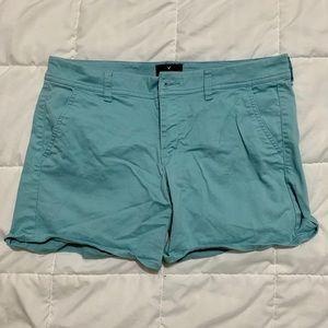 Light Blue American Eagle Shorts (Size: 8)